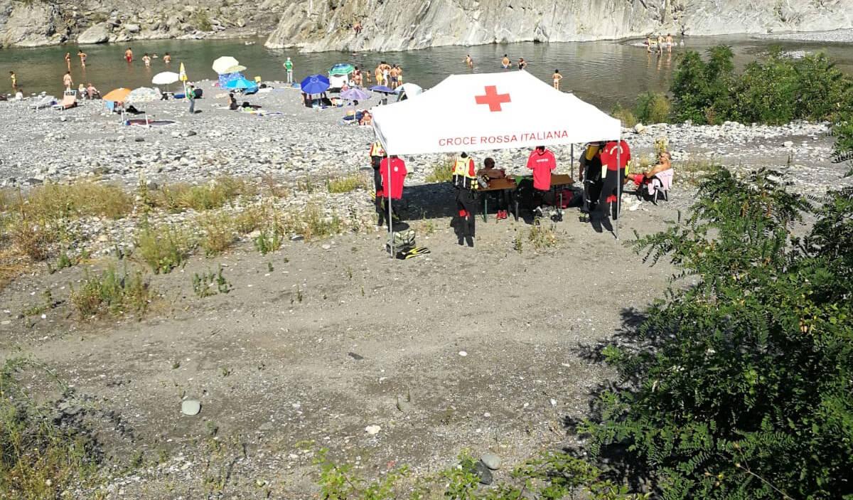 Il nucleo Opsa di Croce Rossa in servizio in Trebbia
