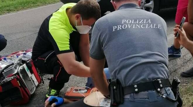Intervento polizia provinciale