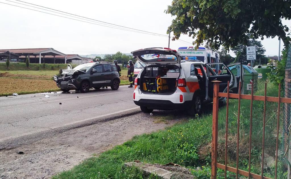 L'incidente sulla provinciale a Castelnovo