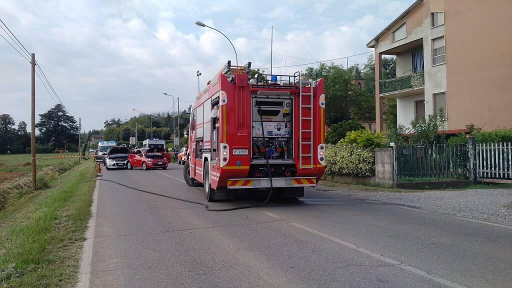 L'incidente sulla provinciale a Castelnuovo