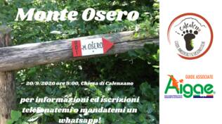 Escursione Monte Osero