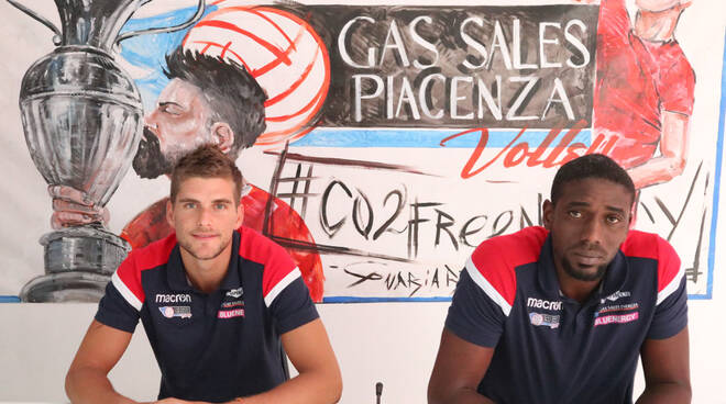 I giocatori Gas Sales Bluenergy Volley