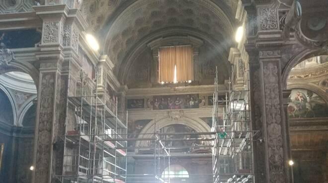 I lavori di restauro in Santa Maria di Campagna
