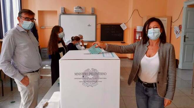 Il ministro Paola De Micheli al voto