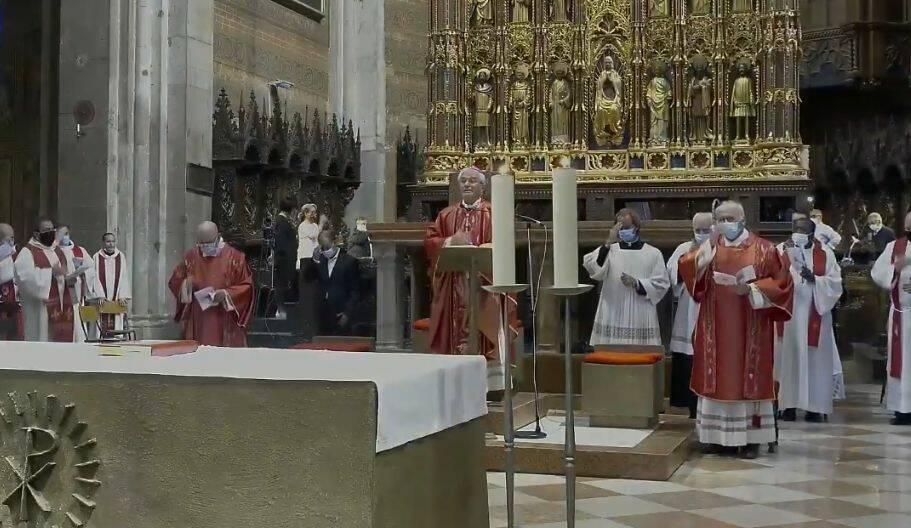 Il saluto a Gianni Ambrosio in Cattedrale