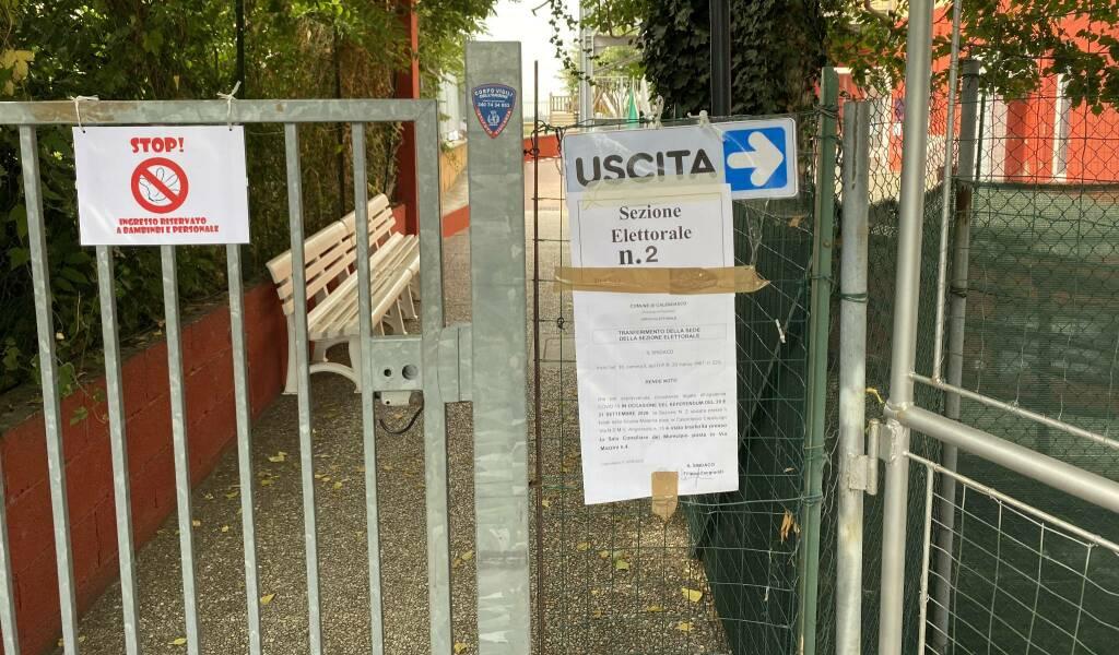Il seggio chiuso a Calendasco