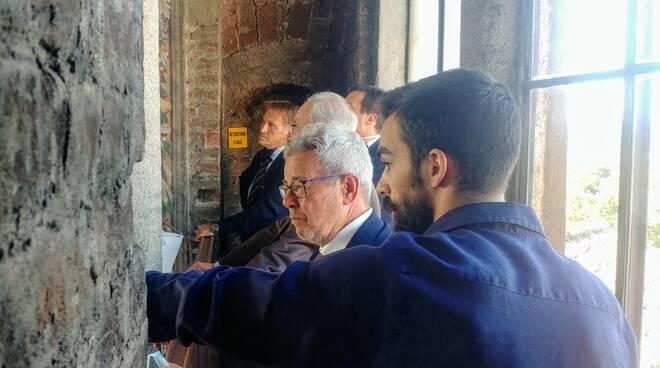 Il senatore Marilotti alla salita al Podenone