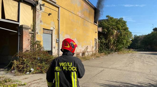 Incendio ex mercato ortofrutticolo