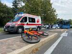 incidente bici via IV Novembre