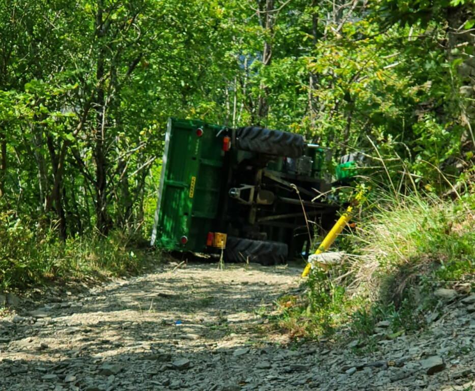 incidente Ferriere ribaltato trattore