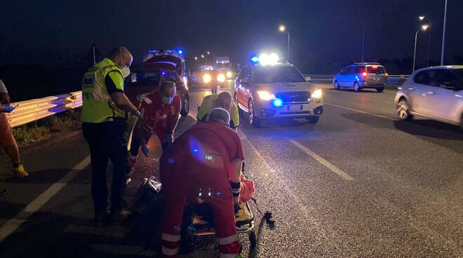 incidente scooter tanngenziale
