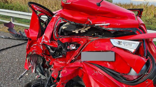 L'incidente in A1 a San Rocco