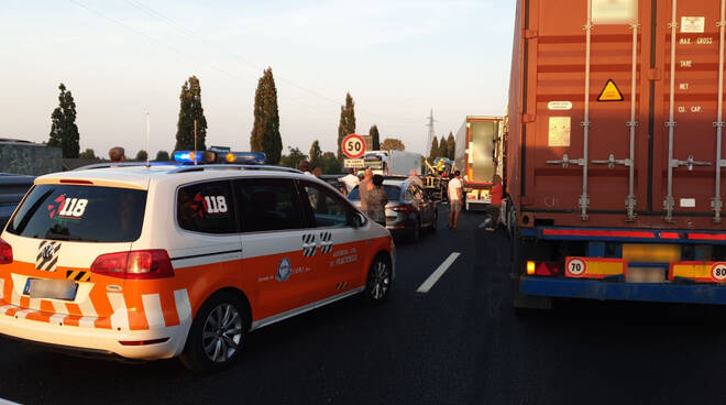 L'incidente in A21