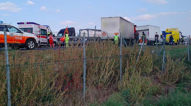L'incidente in A21 a Castello