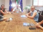 Nella foto, il compianto Fausto Zermani, il sindaco Bricconi, il vicesindaco Toma e l'assessore Amici