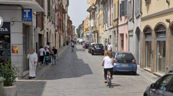 Via Roma a Piacenza