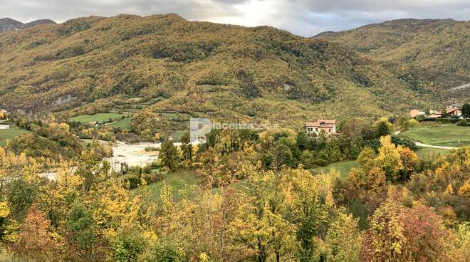foliage autunnale a Olmo in Val Nure