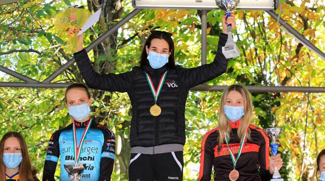 Francesca Barale sul podio (foto Ossola)