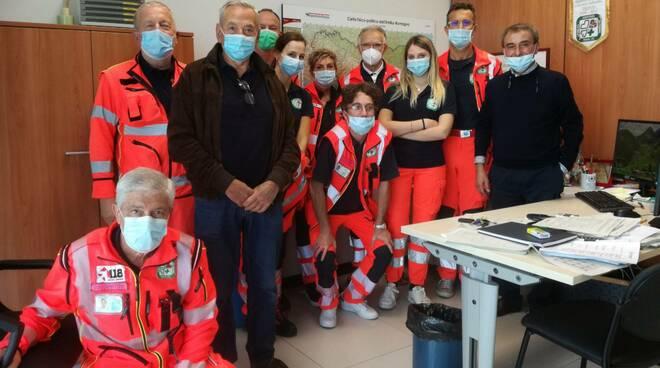 I volontari Anpas ospiti della Centrale Operativa del 118