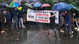 La manifestazione sul Facsal contro il Dpcm