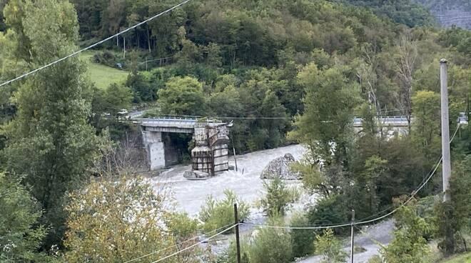 Ponte Lenzino crollato