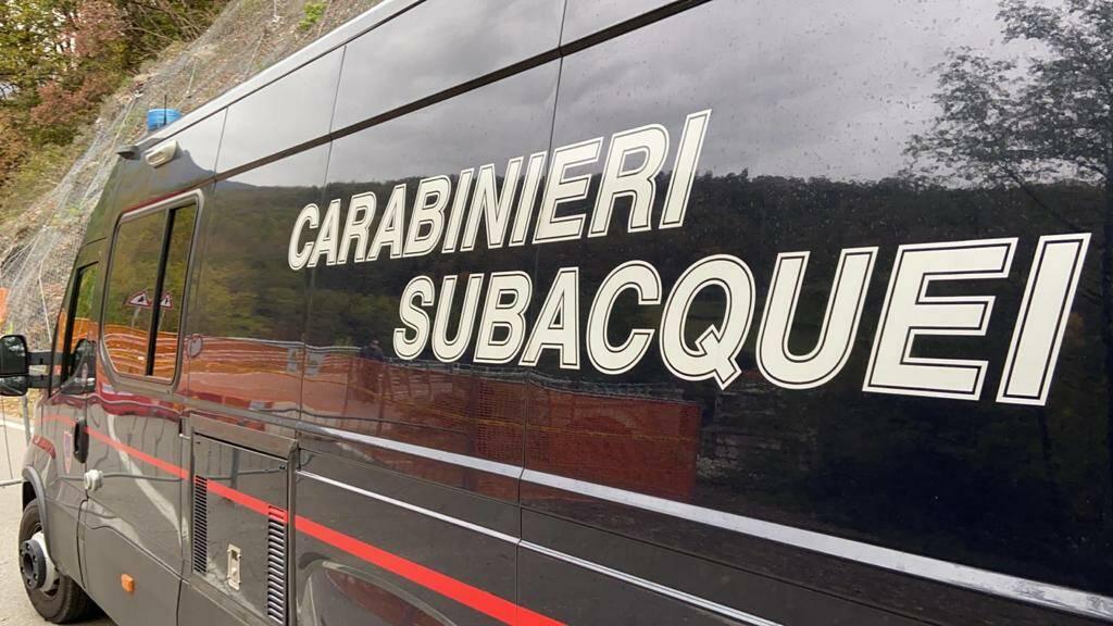 Sopralluogo carabinieri del nucleo subacqueo di Genova Voltri