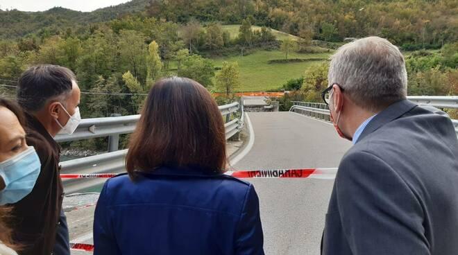 Sopralluogo ministro De Micheli a ponte Lenzino