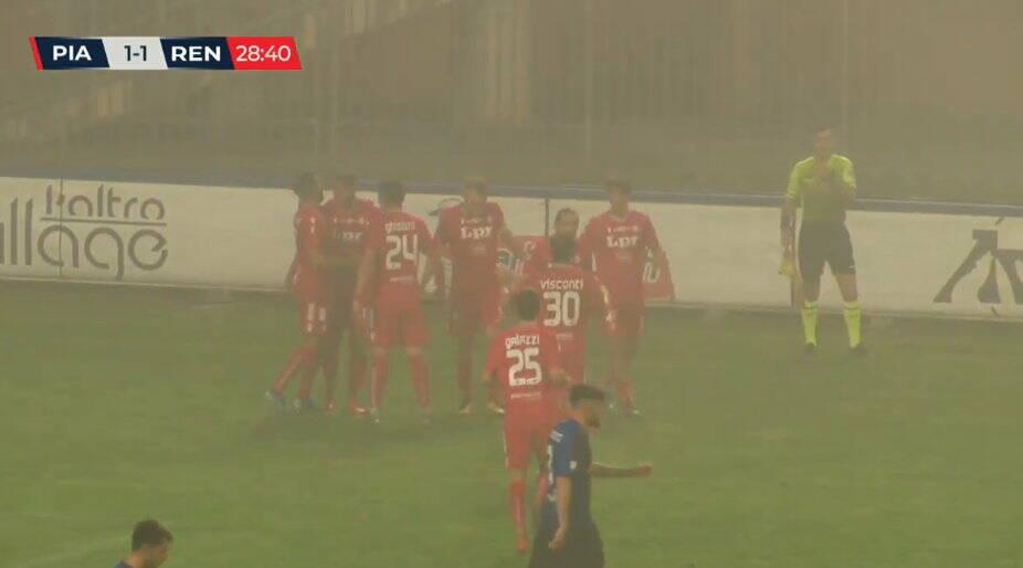 Corbari esultanza Piacenza calcio