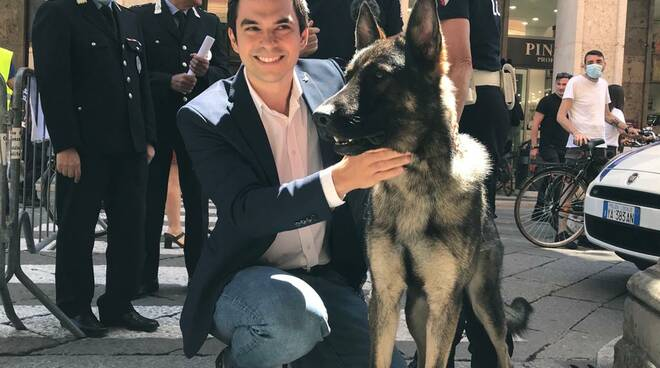 Luca Zandonella e cane Ector