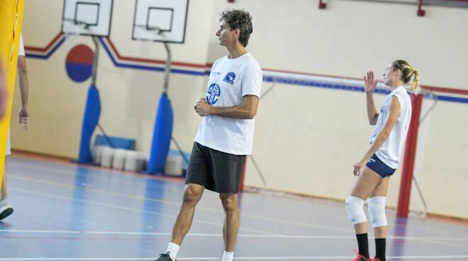 Nella foto di Massimo Dioni, coach Alessandro Della Balda (Conad Alsenese)