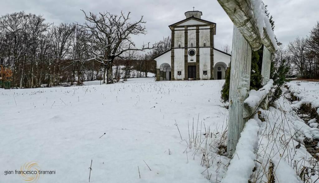 Neve a Santa Franca di Morfasso foto di Gian Francesco Tiramani