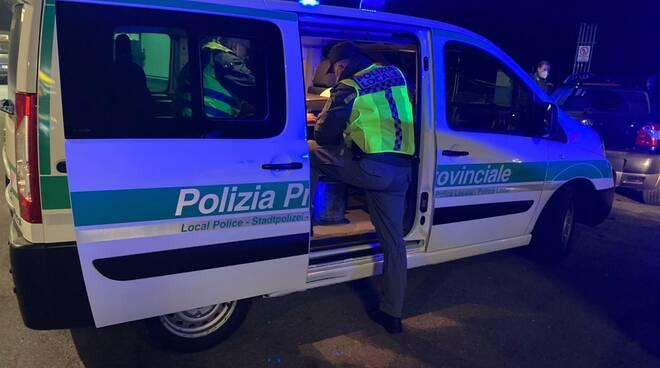 Polizia provinciale notte