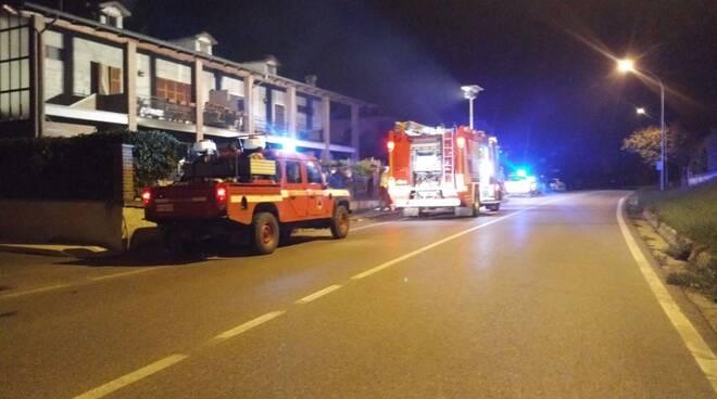 vigili del fuoco a Strà di Nibbiano