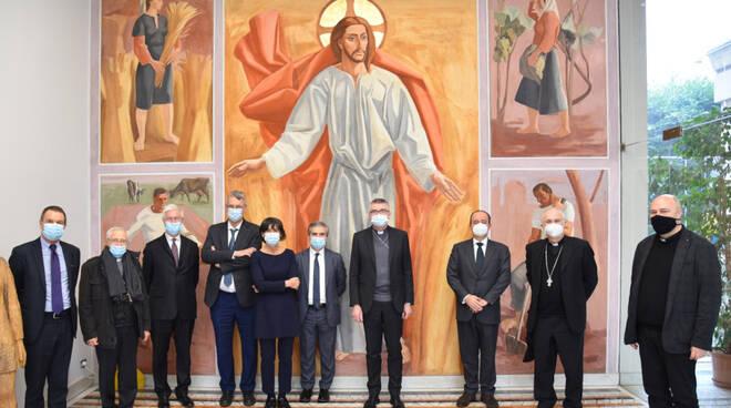 La visita del vescovo Cevolotto all'Università Cattolica
