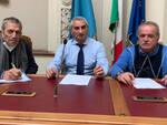 Luigino Baldini (Spi CGIL), Aldo Baldini  (Fnp CISL), Pasquale Negro (Uilp UIL)