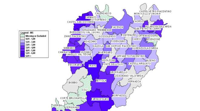 Mappa Comuni Covid