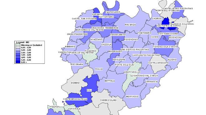 Mappa Covid comuni