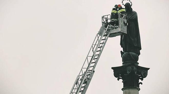 Omaggio vigili del fuoco Immacolata