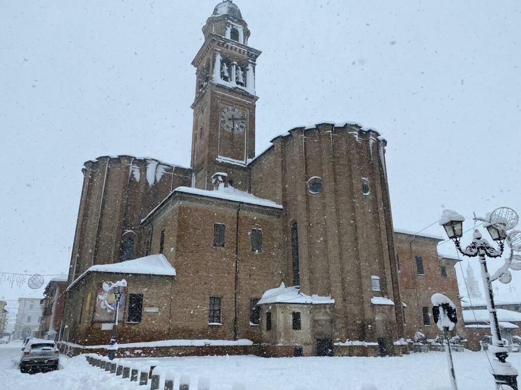 Piacenza sotto la neve