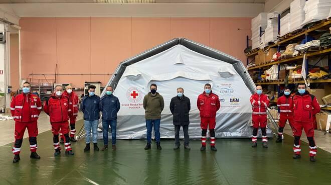 tenda campale croce rossa