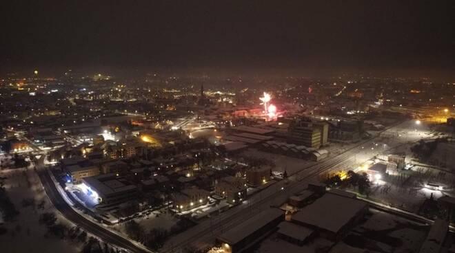 capodanno Piacenza dal drone botti