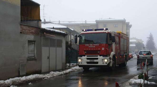 Incendio a Borgonovo