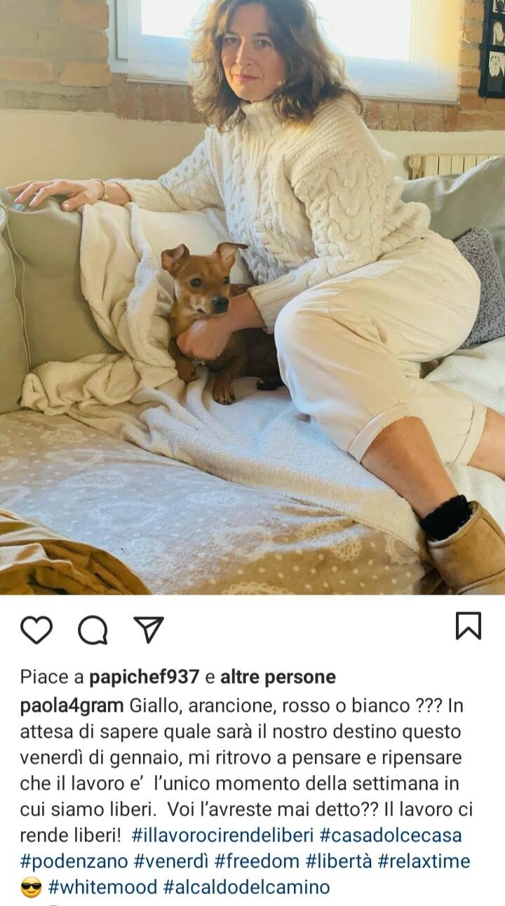 Post su instagram Paola Parmeggiani