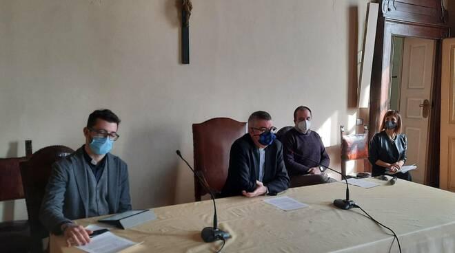 don Alessandro Mazzoni, vescovo Adriano Cevolotto, Dario Carini, Barbara Tondini