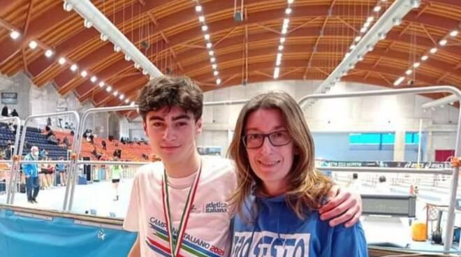Edoardo Stronati e Daniela Frasani (Atletica Fiorenzuola)