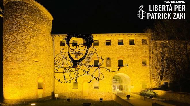 La provincia di Piacenza si illumina di giallo per Patrick Zaki