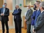 La visita del vescovo Cevolotto alla Banca di Piacenza