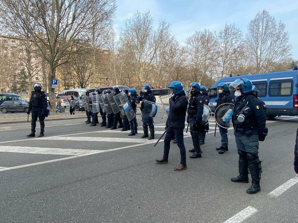 La manifestazione dei Si Cobas dopo gli arresti