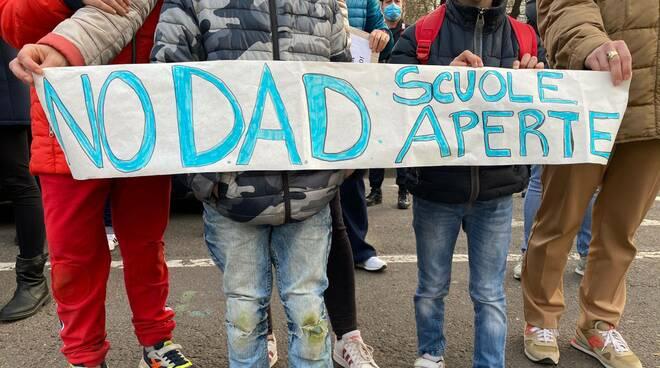 Manifestazione contro la Dad
