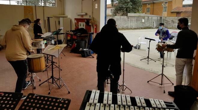Percussioni del Conservatorio Nicolini a Calendasco